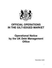 OFFICIAL OPERATIONS IN THE GILT-EDGED MARKET