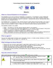 International Hazard Datasheets on Occupation