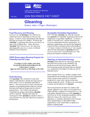 Food Recovery and Gleaning Food recovery and gleaningwholesome food fo