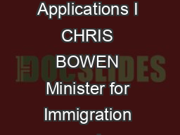 Direction No   Assessing the Genuine Temporary Entrant Criterion for Student Visa Applications I CHRIS BOWEN Minister for Immigration and Citizenship give this Direction under section  of the Migratio