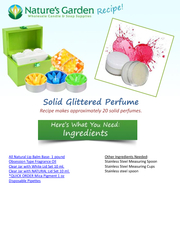 Solid Glittered Perfume PowerPoint PPT Presentation