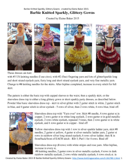 Barbie Knitted Sparkly, Glittery Gowns   created by Elaine Baker 2015. PowerPoint PPT Presentation
