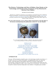 The History, Technology and Care of Globes: Case Study on the Technolo