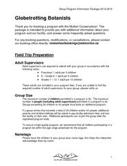 Group Program Information Package 20142015Globetrotting BotanistsThank