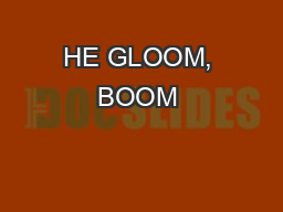 HE GLOOM, BOOM & DOOM REPORTISSN 1017-1371 A PUBLICATION OF MARC FABER