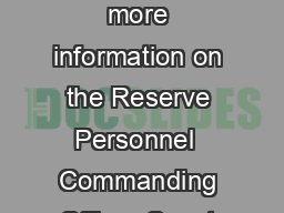 Station Cape Disappointment Active Duty Personnel  Mailing Address For more information on the Reserve Personnel  Commanding Officer Coast Guard visit the Internet at Civilian Personnel   Coast Gua rd