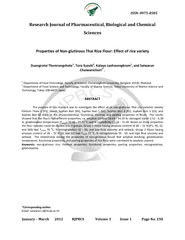 Research Journal of Pharmaceutical, Biological and Chemical