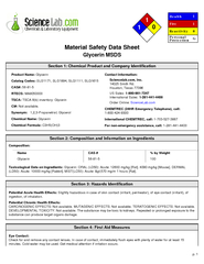 Material Safety Data SheetGlycerin MSDS