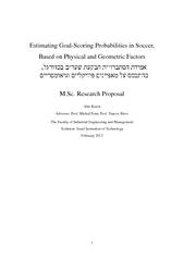 EstimatingGoal-ScoringProbabilitiesinSoccer,BasedonPhysicalandGeometri