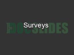 Surveys & Friends  PDF document - DocSlides
