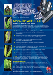 STAY CLEAN WITH STYLEINSTRUCTIONS FOR CARE & USECongratulations, you a