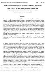 International Journal of Psychology and Psychological Therapy2008, 8,