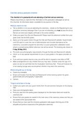 Cranfield campus graduand checklist