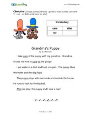 ObjectiveConcepts (compound words - grandma, inside, outside; controll
