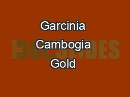 Garcinia Cambogia Gold