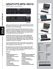 Eight channels with faders, parameter knobs,
