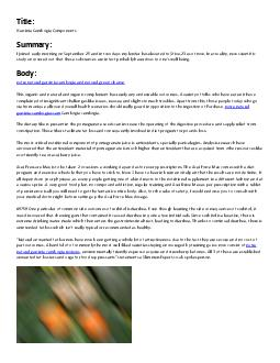 Title: Garcinia Cambogia Components Summary PDF document - DocSlides