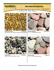 DECORATIVE GRAVELSAutumn brown color, great for pathways and landscapi
