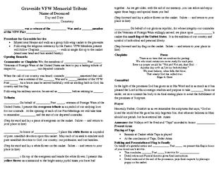 VFW Memorial Tribute