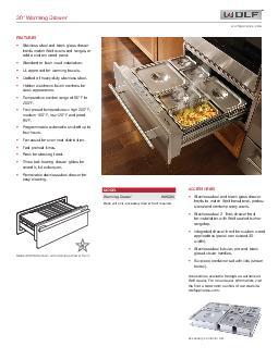 Warming Drawer wolfappliance
