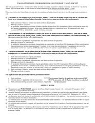 ITALIAN CITIZENSHIP:  INFORMATION FOR US CITIZENS OF ITALIAN DESCENT