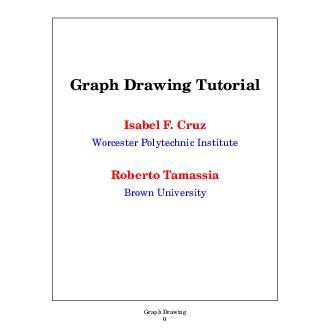Graph Drawing Graph Drawing Tutorial Isabel F