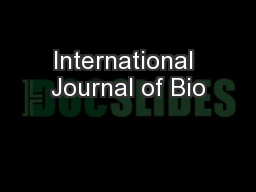 International Journal of Bio