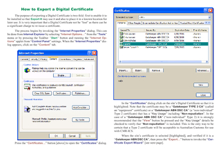 How to Export a Digital Certificate