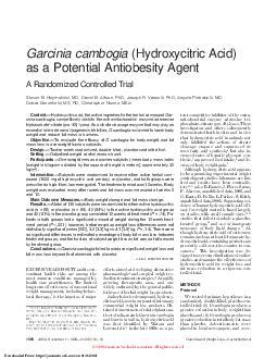 Garcinia cambogia (Hydroxycitric Acid)
