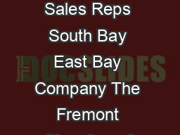 Job Opening Member Sales Representative Keywords Account Managers Sales Reps South Bay East Bay Company The Fremont Chamber of Commerce is the second largest chamber in the East Bay