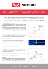 www.instron.comGRIPPING EFFECTS IN COMPOSITE FATIGUE TESTING