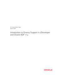 An Oracle White Paper March 2009 Introduction to Groovy Support in JDe