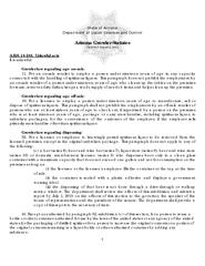 State of Arizona Department of Liquor Licenses and Control