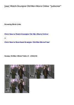 [aaa[ Watch Grumpier Old Men Movie Online '*putlocker*'       Streamin