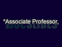 *Associate Professor,  # Professor and Head  (Department of Paediatric