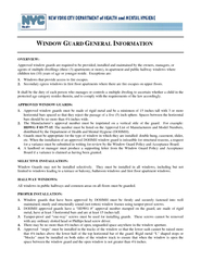 WINDOW GUARD GENERAL INFORMATION   VERVIEW: Approved window guards are