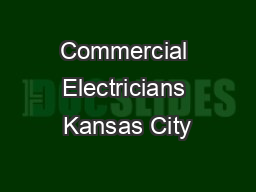 Commercial Electricians Kansas City