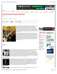 12/25/11 9:25 AMGuitarPlayer: The 50 Greatest Rhythm Guitarists ... PowerPoint PPT Presentation
