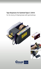 Electronic Tape Dispenser C 25 for Gummed Tape PowerPoint PPT Presentation