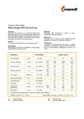 Technical Data Sheet Advantage MG Gumming End-uses: Advantage MG Gummi PowerPoint PPT Presentation