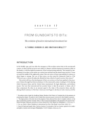 CHAPTER FROM GUNBOATS TO BITs:    e evolution of modern international