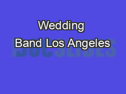 Wedding Band Los Angeles