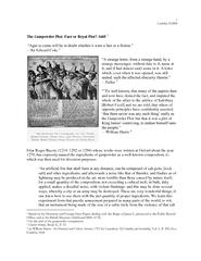 The Gunpowder Plot: Fact or Royal Plot? 1605