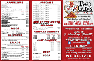 3987 Walden Ave.   Lancaster, NYCall us at:(716)Two-Guys  (896-4897)Ch