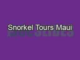 Snorkel Tours Maui