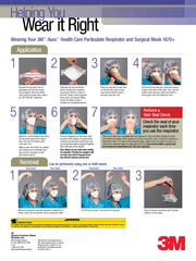 Remove the respirator from its packaging and hold with straps facing u