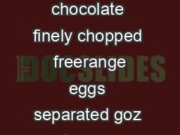 bbccoukfood Chocolate roulade Ingredients goz goodquality dark chocolate finely chopped  freerange eggs separated goz caster sugar  tbsp cocoa powder mlfl oz double cream icing sugar to dust Preparati